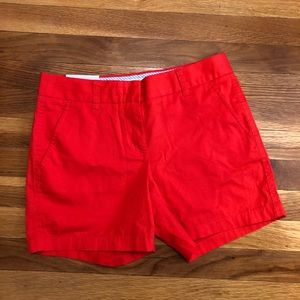 J Crew NWT red shorts 🔥